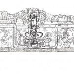 Dibujo en escala del friso de Holmul (A. Castillo ©Proyecto Arqueológico Holmul).