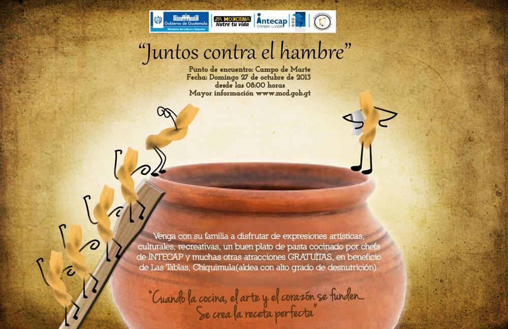 AFICHE JUNTOS CONTRA EL HAMBRE