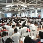 La inauguración de la academia de artes en dibujo y pintura, contó con la presencia de cientos de estudiantes.