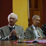 Los Arquitectos Jorge Montes y Carlos Haussler invitados a la presentación.