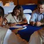 del MCD en una actividad grupal durante el taller.