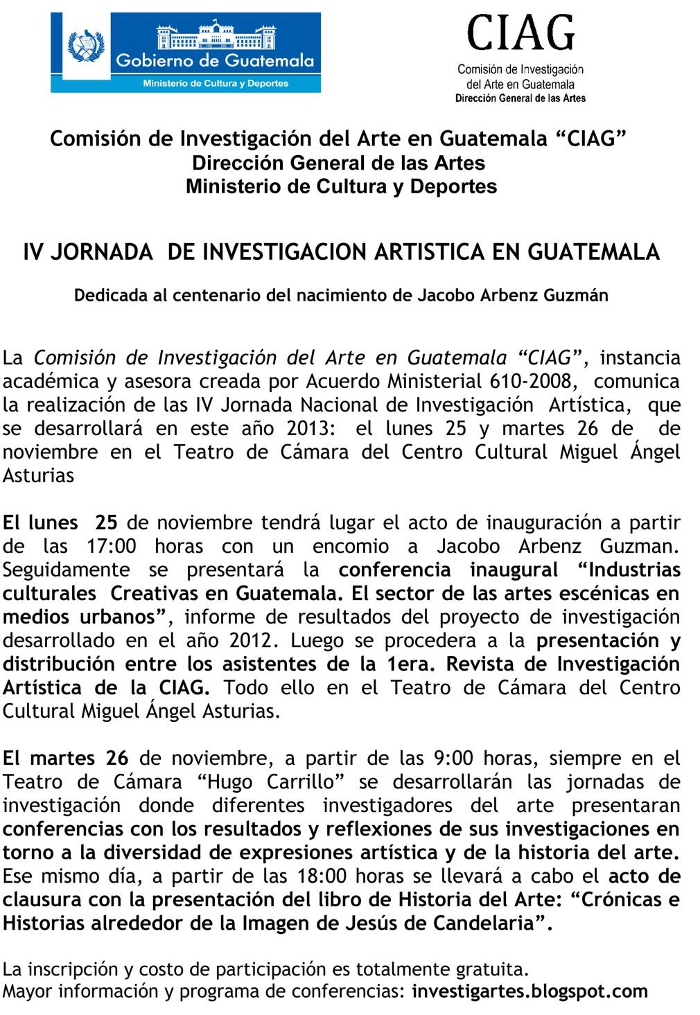 Boletín de prensa IV Jornada de Investigación Artística copy