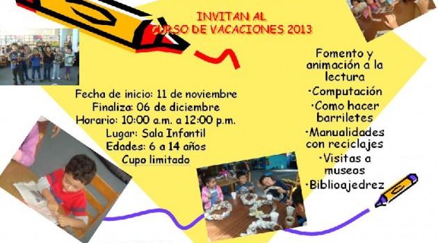 CURSO DE VACACIONES BIBLIOTECA NACIONAL 2013