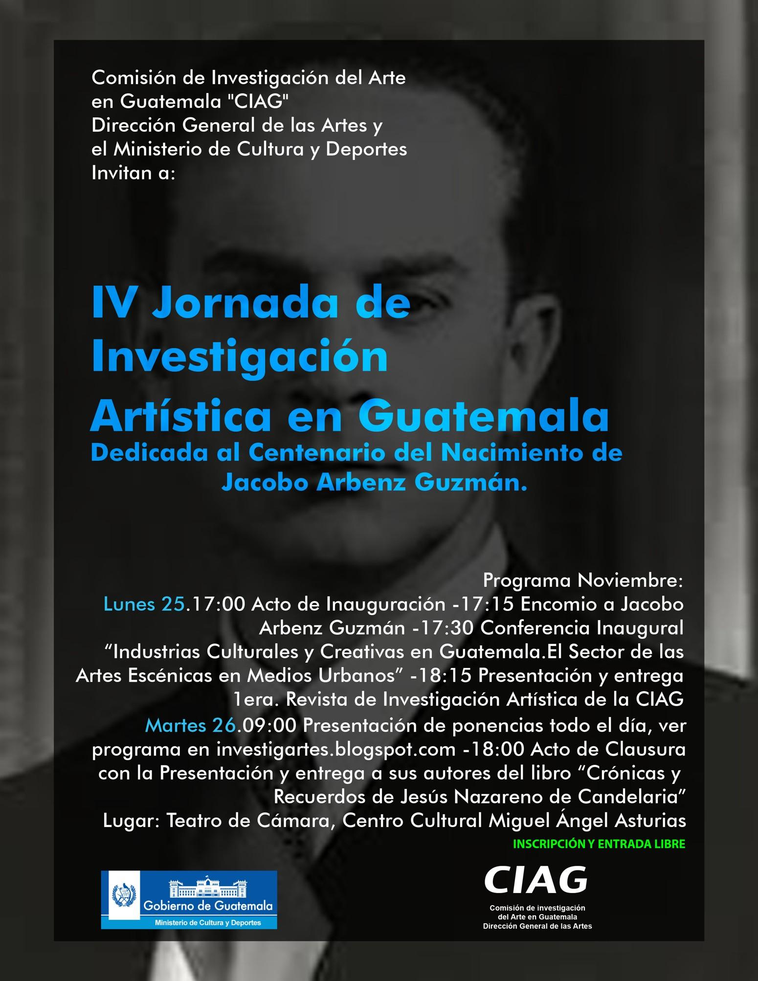 afiche IV Jornada de Investigación Artísica