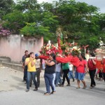 Peregrinaje de las aldeas cercanas de Sanarate, El Progeso.