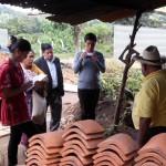 Trabajo de campo sobre la elaboración de la Teja en El Tejar, Chimaltenango
