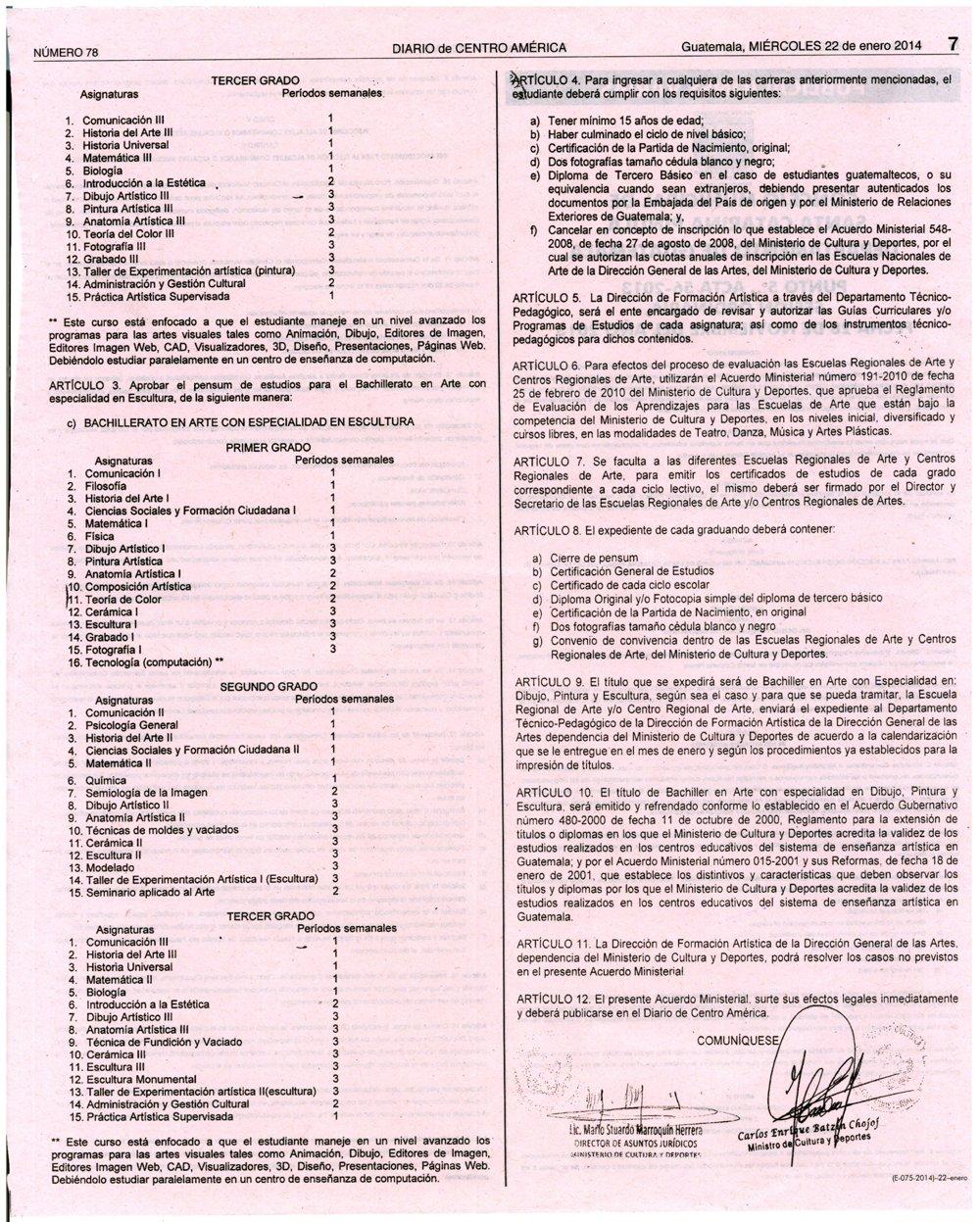 Acuerdo Ministerial 1143-2013-IMPLEMENTACIÓN DE LAS CARRERAS DE BACHILLERATO EN ARTE-1 copy