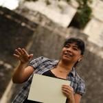 Rosa María Chan, Viceministra de Patrimonio Cultural y Natural, resaltó el esfuerzo y dedicación con la que efectuaron esta obra.