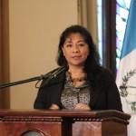 Rosa María Chan representante del Ministerio de Cultura y Deportes.