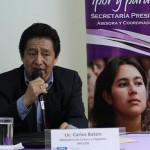 Carlos Batzin, Ministro de Cultura y Deportes, dio a conocer la importancia de la firma de este convenio.