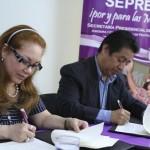 Momento de la firma del convenio de cooperación interinstitucional.