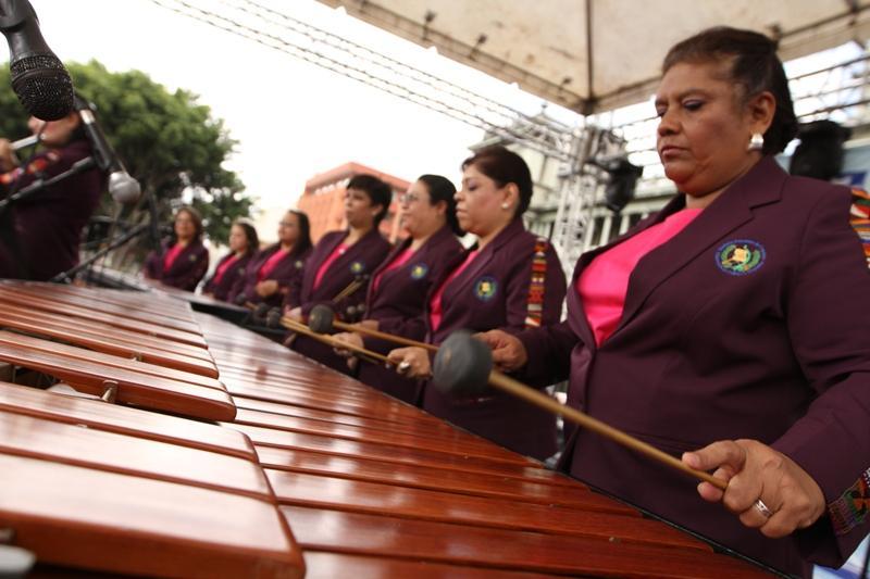 La Marimba Femenina de Concierto del Ministerio de Cultura y Deportes, fue la marimba anfitriona.