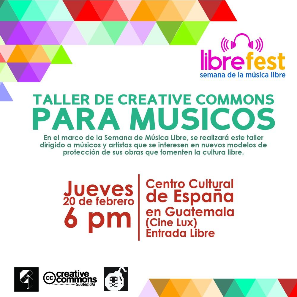 Flyer CC para musicos