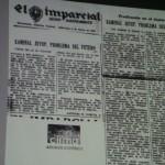 Fotografía de un antiguo periódico que habla de Kaminaljuyu.