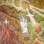 """Parte del mural """"Guatemaya amistad con Taiwán""""."""