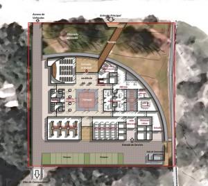 Planta general del edificio (Tokura Corporation 2012, modificado E. Marroquín 2013).