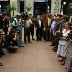 Los medios de comunicación se hicieron presentes a la conmemoración.