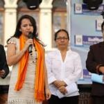 Clariza Castellanos, Viceministra de Cultura, inauguró el Concierto de Marimbas.