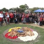 Varios representantes del pueblo maya estuvieron presentes.