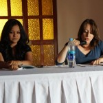 Conversatorio ofrecido por las escritoras quetzaltecas Carmen Lucía Alvarado y Vania Vargas.