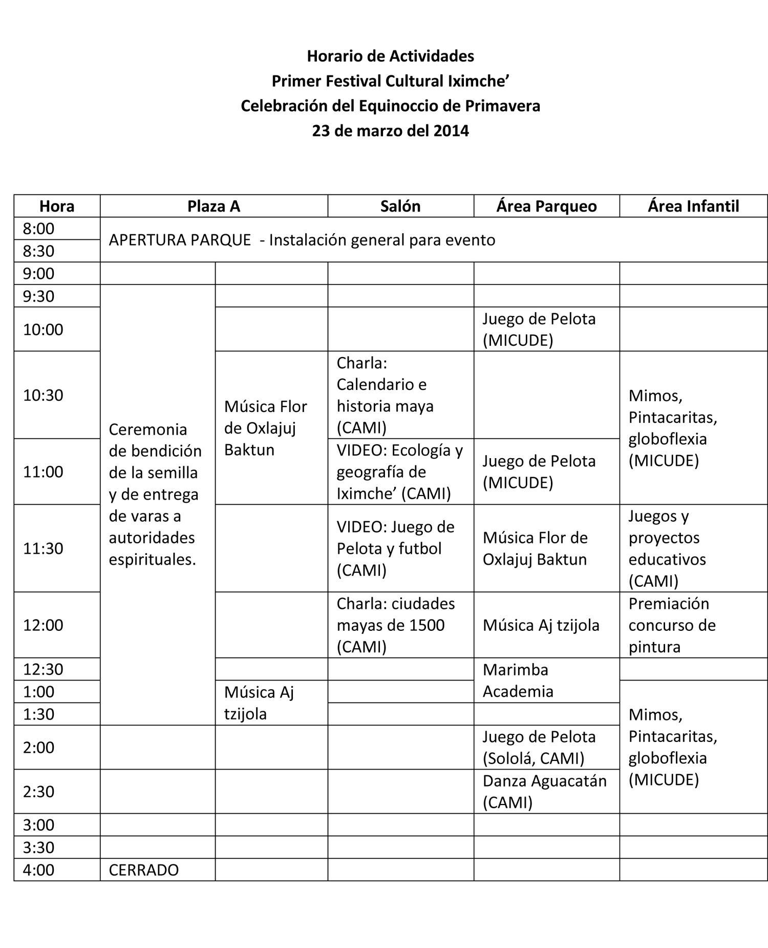 Programa Festival Iximche14