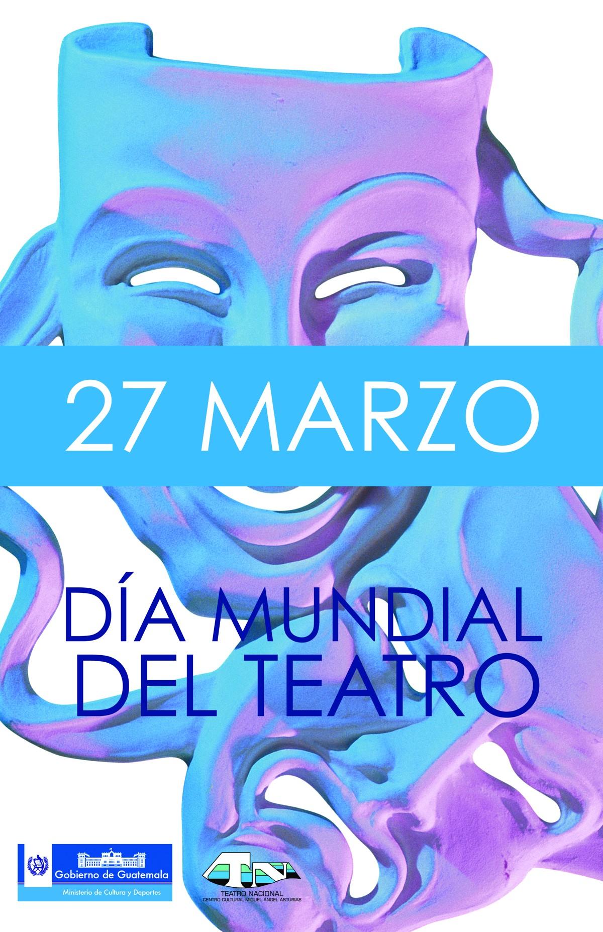 afiche dia mundial de teatro