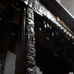 Glifos tallados en madera, son parte del arte de la marimba de la AGAYC.