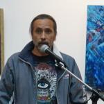 El Artista Nacional Jorge Corleto, habló en representación de los docentes de la ENAP y expositores de la muestra artística.
