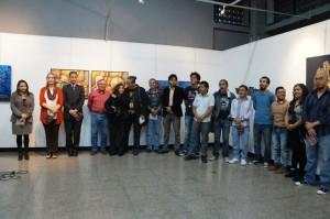 Los maestros expositores y junto a la Viceministra de Cultura y la Directora de Formación Artística del MCD.