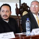 Rigoberto García, Asesor de Desarrollo Cultural y  Roberto Godoy, Asesor de la Dirección General del Deporte.