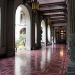 Corredor del Palacio Nacional de la Cultura.