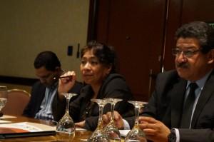 Rosa María Chan, Viceministra de Patrimonio Cultural y Natural, participó en el taller con la mesa técnica del IDAEH.