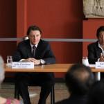 Julio Carranza representante de UNESCO en Guatemala, junto a Carlos Batzín, Ministro de Cultura y Deportes
