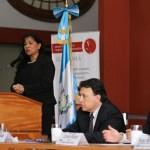 La Viceministra de Patrimonio Cultural y Natural fue la encargada de dar las palabras de bienvenida.