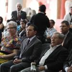 Representantes de san Pedro Sacatepéquez san Marcos y asistentes al evento.