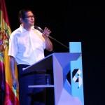 Lic. Oswaldo Gómez durante su ponencia.