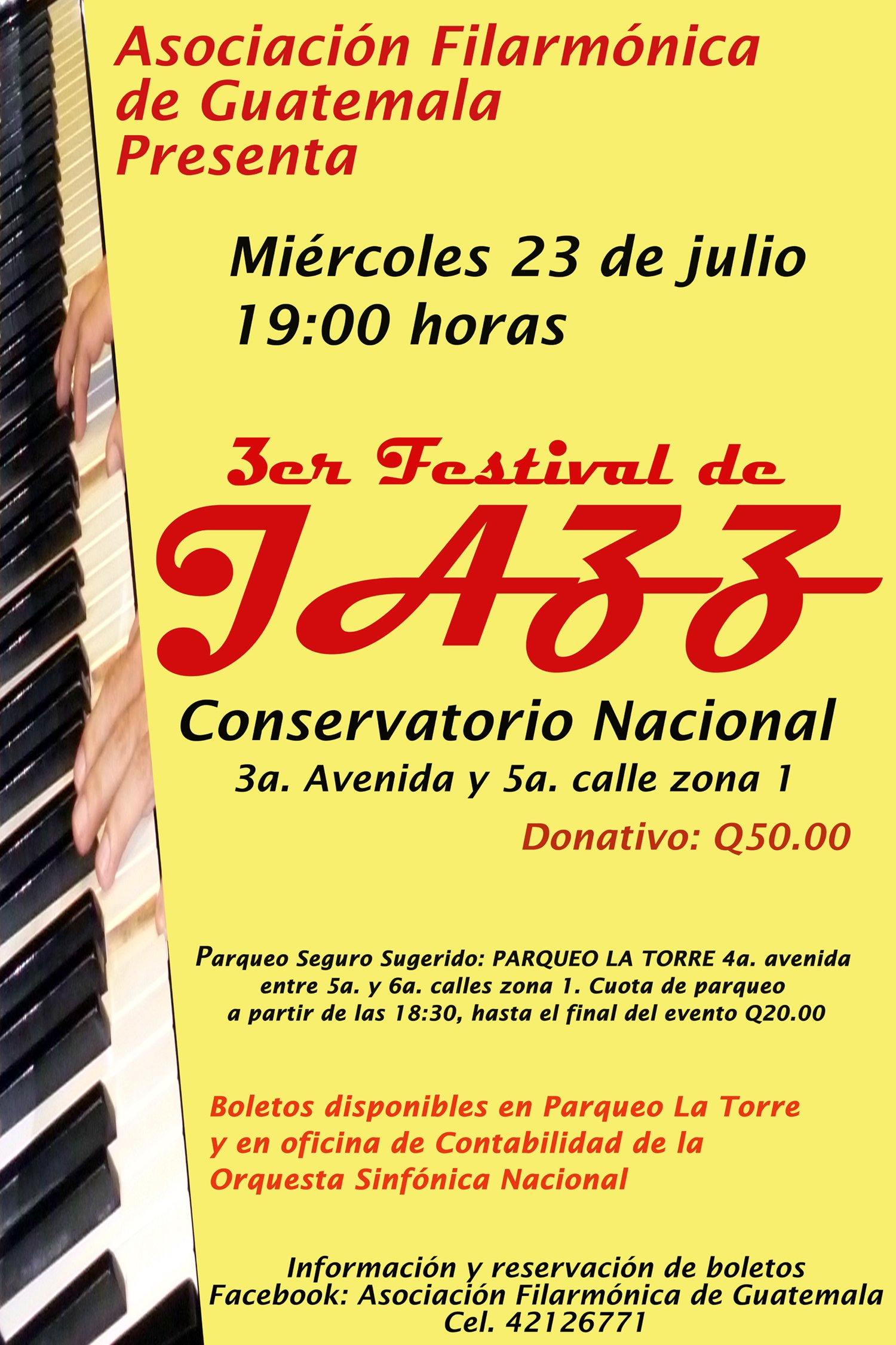 afiche 3er festival de jazz