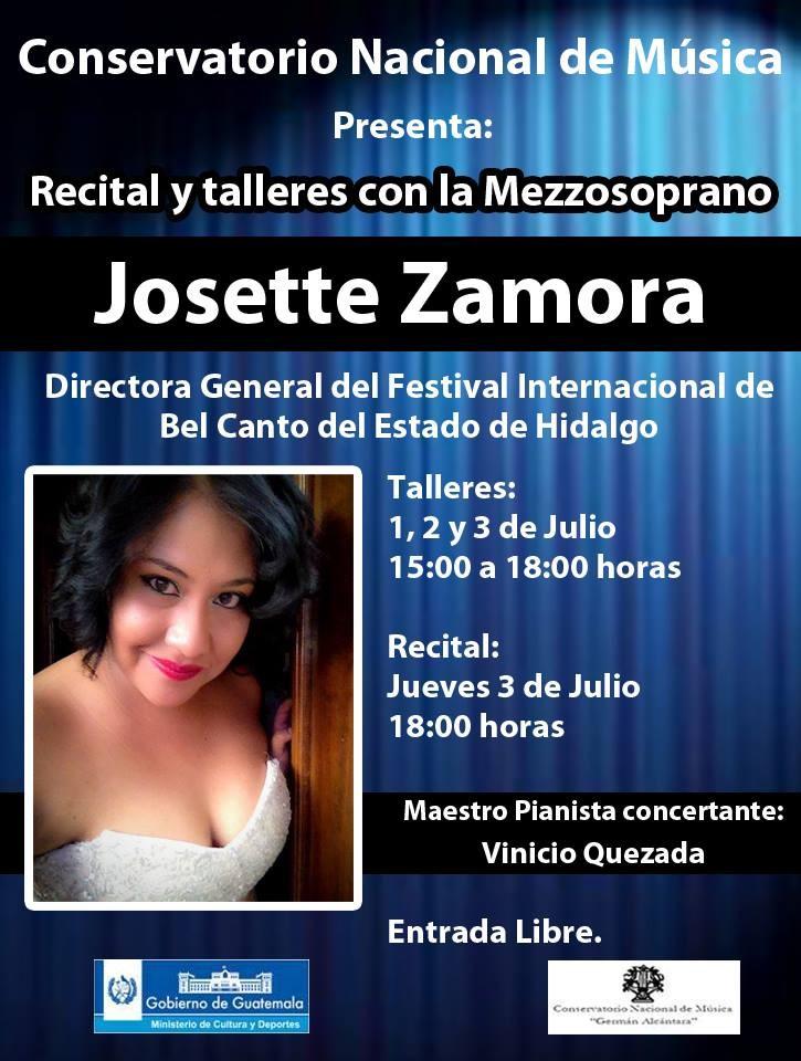 afiche Josette zamora