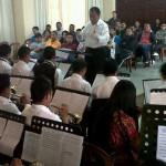 Jóvenes músicos asisten a encuentro de bandas5-1431