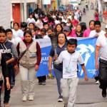 Antorcha Re-Create por la Paz recorre Totonicapan