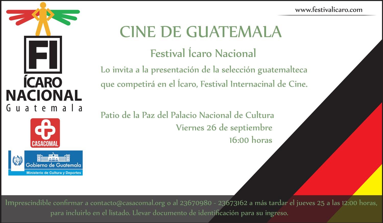 INVITACION FESTIVAL ICARO