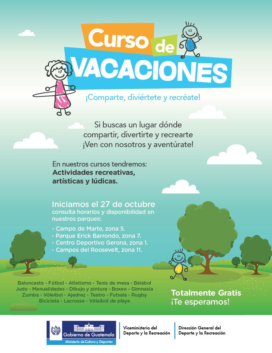 afiche curso de vacaciones