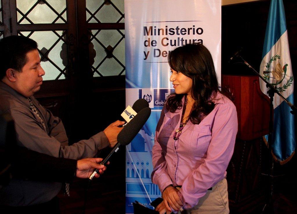 Viceministra de Cultura, Clariza Castellanos.