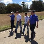 Atleta Olímpico Erick Barrondo visita el parque que lleva su nombre