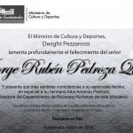 Descanse en Paz, Jorge Rubén Pedroza Quel