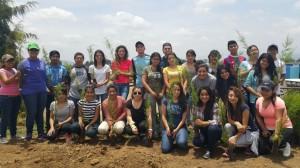 """Estudiantes universitarios reforestan áreas verdes del parque """"Erick Barrondo""""14"""