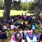 Iximché es visitado por estudiantes y liderezas 4