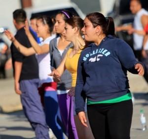 Jóvenes del Servicio Cívico son instruidos sobre gimnasia laboral 1