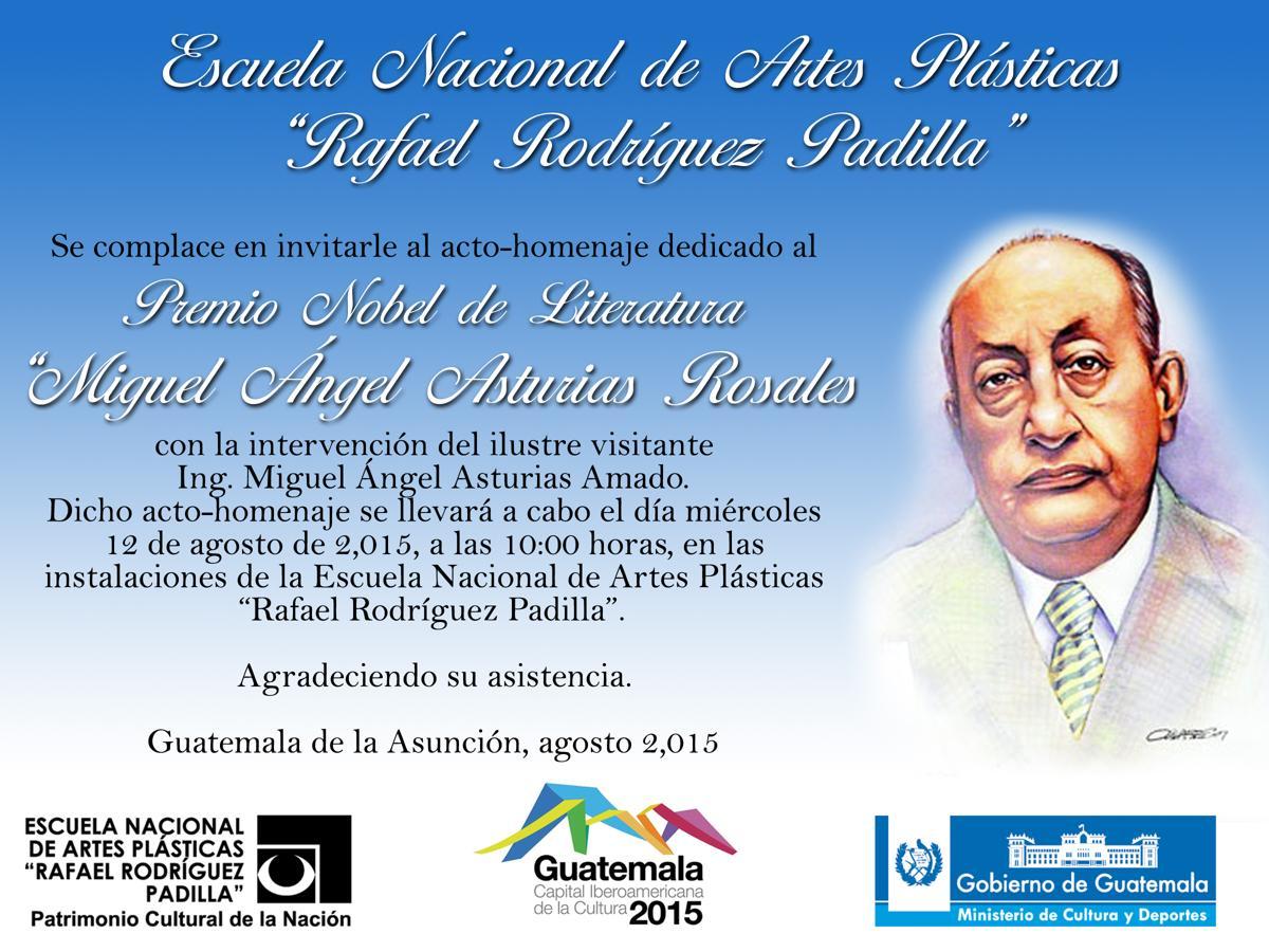 Invitacion Acto-Homenaje  Miguel Angel Asturias