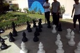 Tablero gigante de ajedrez